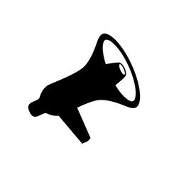 megaphone icon design element for logo label sign vector image