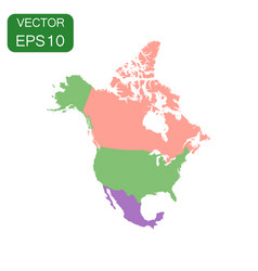 North america map icon business cartography vector