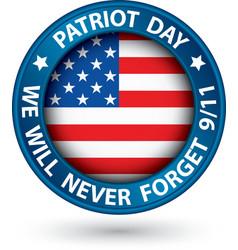 patriot day 11th september blue label we vector image