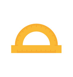 Protractor rule line - concept icon in flat vector