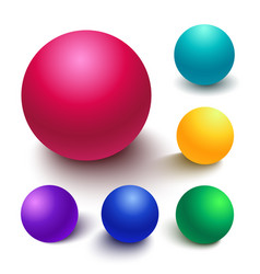 realistic spheres vector image