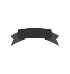 ribbon isolated template black decorative tape vector image