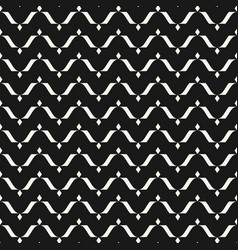 seamless pattern horizontal wavy lines curved vector image