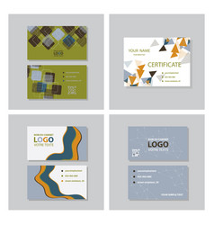 Set of modern creative and clean business card vector
