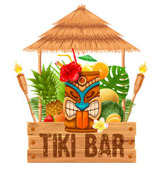 Signboard of tiki bar vector