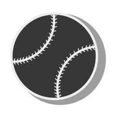 Silhouette ball baseball isolated design vector