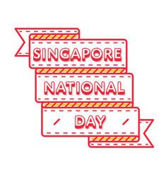 Singapore national day greeting emblem vector