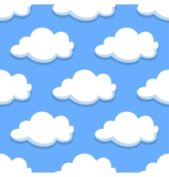 Sky seamless pattern with white clouds vector image