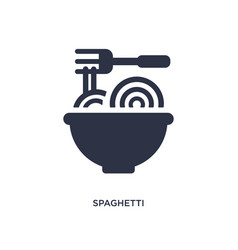 Spaghetti bolognese icon on white background vector
