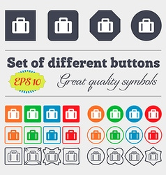 suitcase icon sign Big set of colorful diverse vector image
