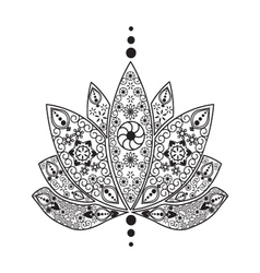 Tattoo element Henna Lotus vector