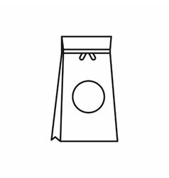 Tea packed in a paper bag icon outline style vector image