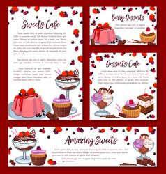 templates for bakery shop cakes desserts vector image