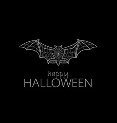 the bat in the web vector image