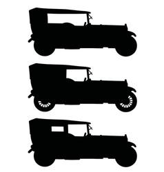 Three vintage cars vector