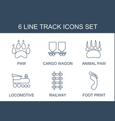Track icons vector