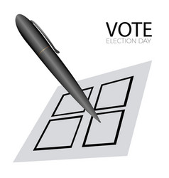 voting card with a pen vector image