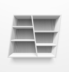 Wall shelves vector
