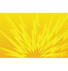 Yellow cartoon blast background vector