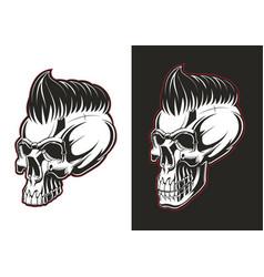 barber skull half profile vector image vector image