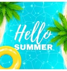 Hello summer banner vector image
