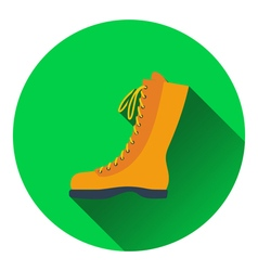 Icon of hiking boot vector