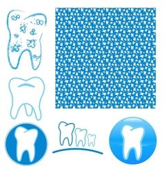 Logo set of teeth vector image