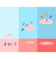 People and clouds Success concept EPS 10 vector image