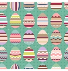 Seamless easter pattern with painted eggs Endless vector image vector image