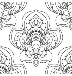 Seamless Monochrome Ornate Pattern Hand vector image