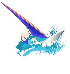 Windsurfers vector image vector image
