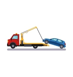 Car and Transportation Towing vector image vector image