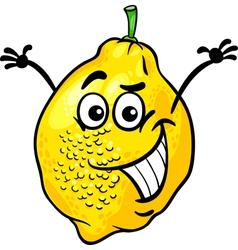 funny lemon fruit cartoon vector image vector image
