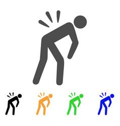 sciatica back pain flat icon vector image