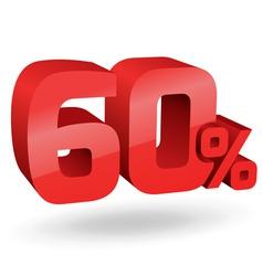 60 percent digits vector image vector image