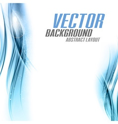 background blue sided vector image vector image