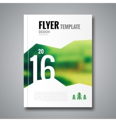 Cover report flyer template Christmas tree blur vector image vector image