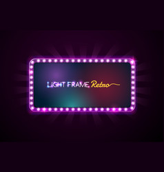 light frame vector image vector image