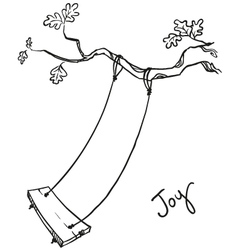 tree with a swing vector image