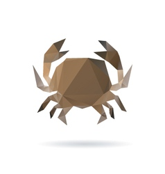 Crab abstract isolated on a white backgrounds vector image vector image