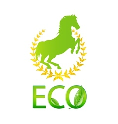glass eco symbol green color isolated vector image vector image
