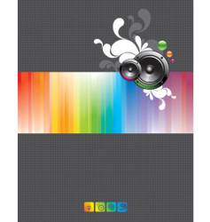 loudspeakers vector image