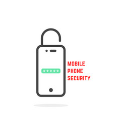 mobile phone security like login vector image vector image