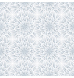 Seamless pattern with grey ornate flower vector image vector image