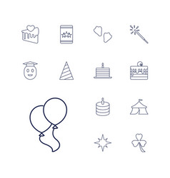 13 celebration icons vector