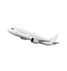 3d white abstract airliner take off on white vector image