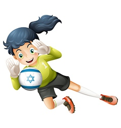A female football player from Israel vector image