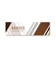 Abstract design banner template vector