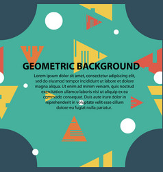 Abstract geometric pattern and background vector