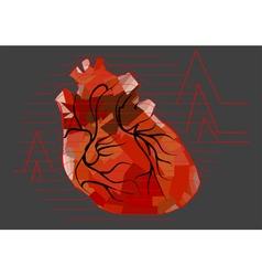 Abstract human heart vector